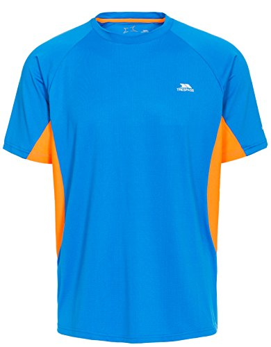 Trespass Brewly, Bright Blue, M, Quick Dry Stretch T-Shirt for Men, Medium, Blue from Trespass