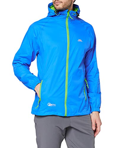 Trespass Qikpac Jacket, Cobalt, S, Compact Packaway Waterproof Jacket Adult Unisex, Small, Blue from Trespass