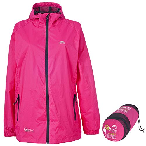 Trespass Qikpac Jacket, Sasparilla, L, Compact Packaway Waterproof Jacket Adult Unisex, Large, Pink from Trespass