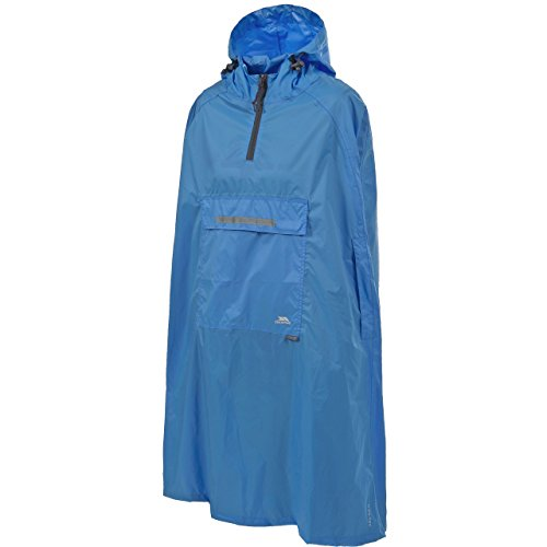 Trespass Qikpac Poncho, Cobalt, S, Compact Packaway Waterproof Poncho Adult Unisex, Small, Blue from Trespass