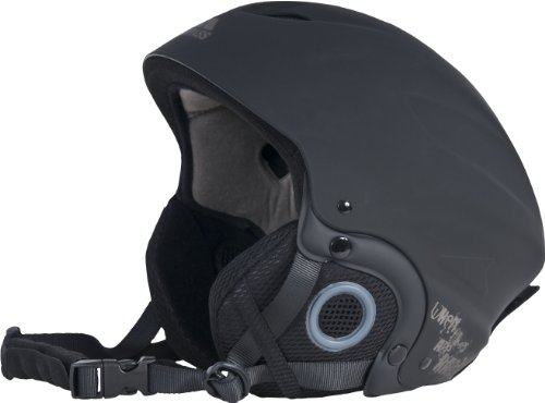 Trespass Skyhigh, Black, L, Snow Helmet with Removable Ear Pads, Goggles Fastener & Adjustable Ventilation, Large, Black from Trespass
