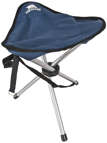 Trespass Tripod, Blue, Compact Foldable Camping Chair with Carrier Bag 41cm x 31cm, Blue from Trespass
