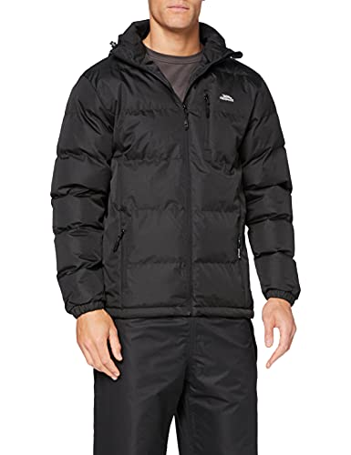 Trespass Tuff, Black, 5/6, Waterproof Jacket with Removable Hood for Kids / Boys, Age 5-6, Black from Trespass