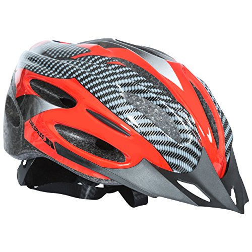 Trespass Crankster, Red, S/M, Adjustable Cycle Safety Helmet with Ventilation, Small/Medium, Red from Trespass