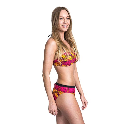 Nuala Women's Bikini Brief Bottoms - PINK LADY PRINT M from Trespass
