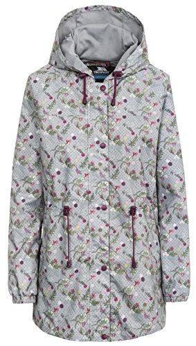 Trespass Women's Pastime Waterproof Rain Jacket - Platinum Print, 2X-Small from Trespass