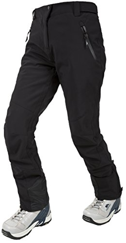 Trespass Amaura, Black, XXL, Waterproof Ski Trousers with Ankle Zips for Women, XX-Large / 2X-Large / 2XL, Black from Trespass