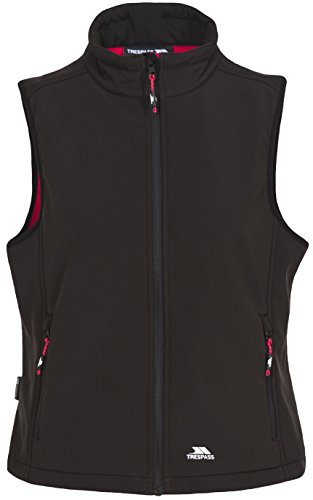Trespass Norma Womens Softshell Gilet Lightweight Windproof Ladies Bodywarmer Black from Trespass