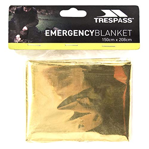 Trespass Foil X, Not Applicable, Emergency / Thermal / Safety / Survival / First Aid Blanket, 150cm x 208cm, Multicolour from Trespass
