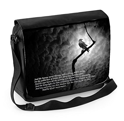 The Raven Edgar Allan Poe Laptop Messenger Bag from Tribal T-Shirts