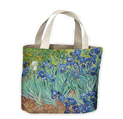 Van Gogh Irises Tote Shopping Bag For Life from Tribal T-Shirts