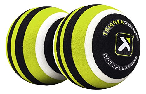 Trigger Point Unisex's MB2 Double Massage Ball Roller for Back and Neck Relief, Lime, One Size from Trigger Point Performance