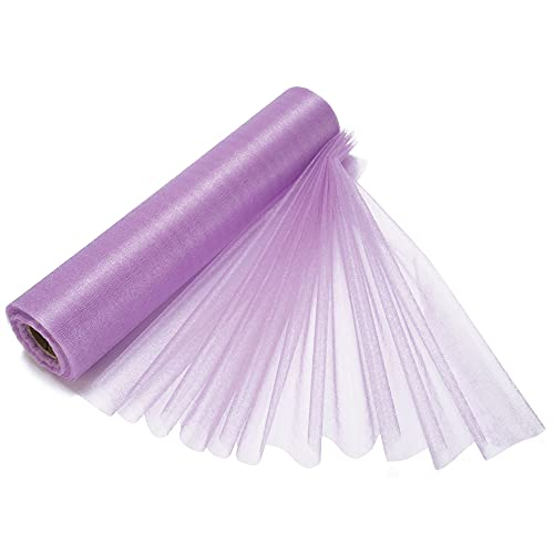 29cm x 25m Light Purple Roll of Organza Sheer Fabric - Elegant Decorative Cloth for Wedding Chair Bows, Table Runners, Party Favours - Crafting Supplies for Ribbons, Dress Accents and Bags from Trimming Shop
