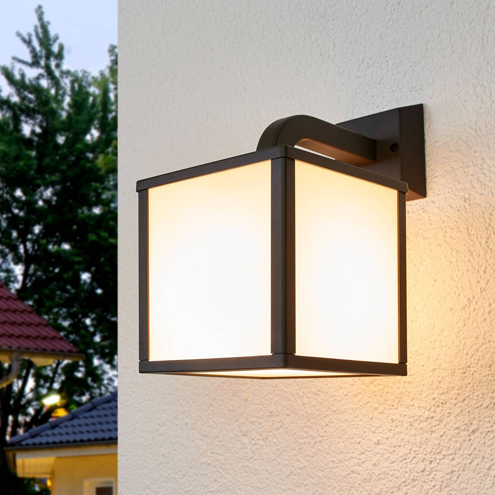 Cubango LED outdoor wall light, cubic lampshades from Trio Lighting