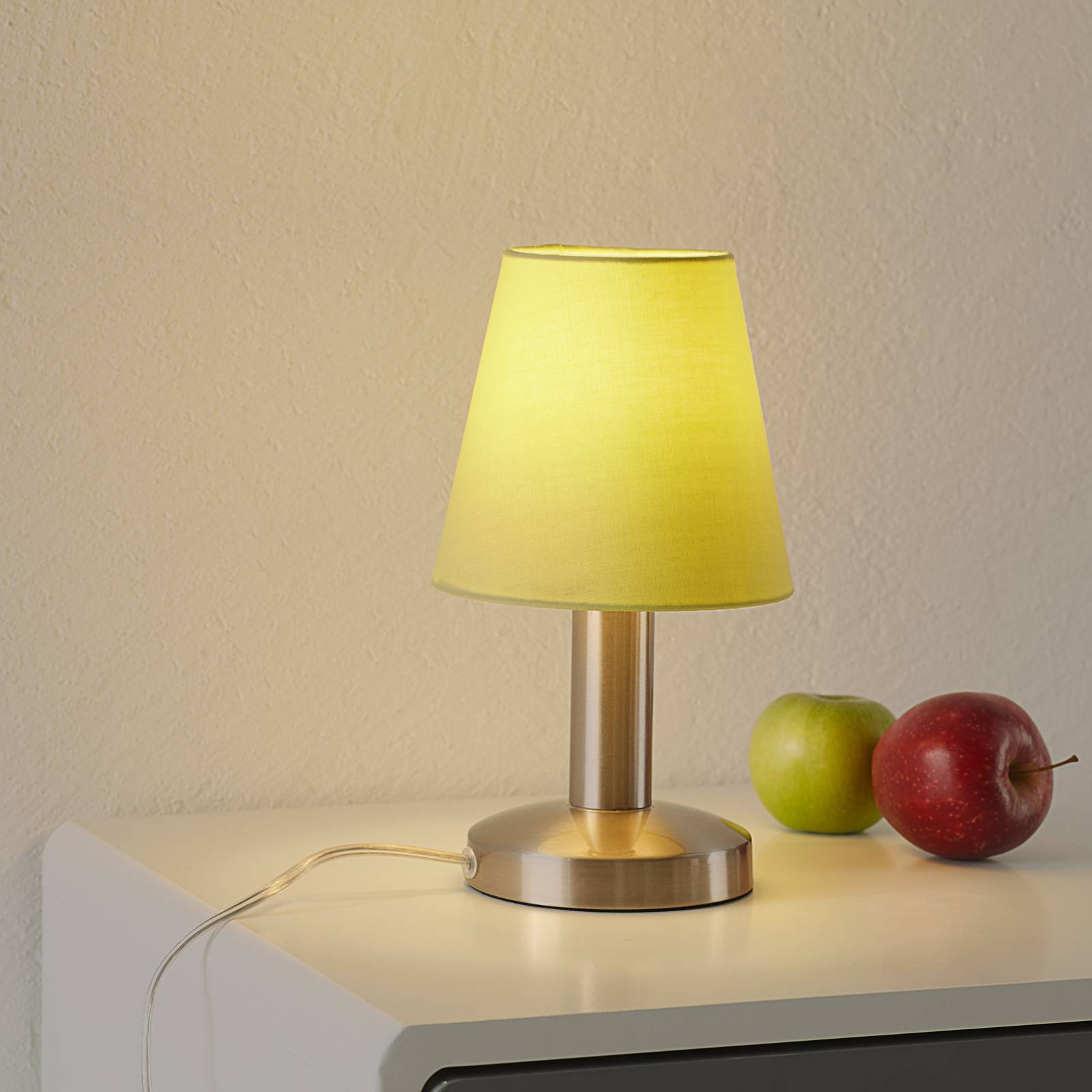 Merete table lamp with touch switch, green from Trio Leuchten