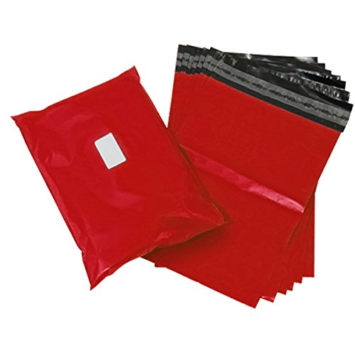 Triplast 22 x 30-Inch Plastic Mailing Postal Bag - Red (Pack of 250) from Triplast