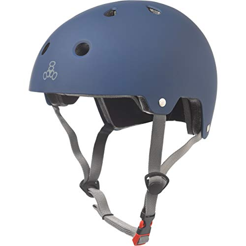 Triple 8 Brainsaver Helmet with EPS (Rubber Blue, X-Small/Small) from Triple 8