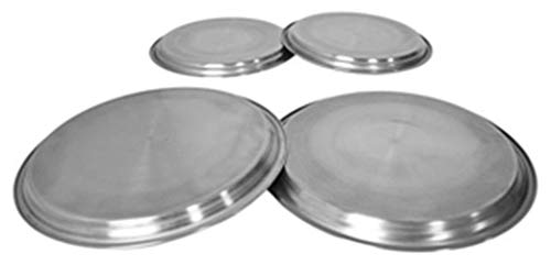 4pc STAINLESS STEEL GAS ELECTRIC COOKER OVEN HOB BURNER COVERS RINGS COVER PROTECTOR SET from Triple A Online Ltd