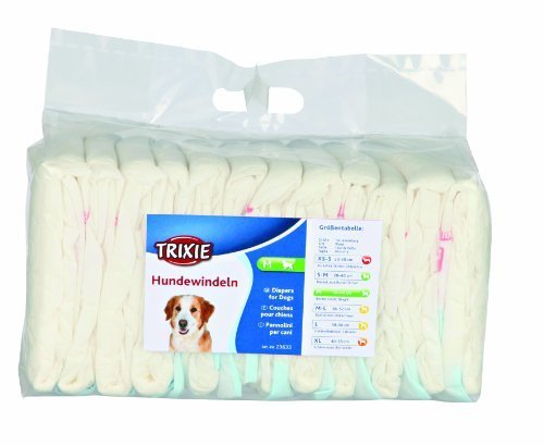 Diapers (nappies) for dogs, 12 pieces, M, 12 pcs by Trixie from Trixie
