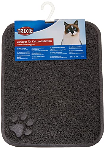 Trixie Cat Litter Tray Mat, 37 Ã- 45 cm, Anthracite from Trixie