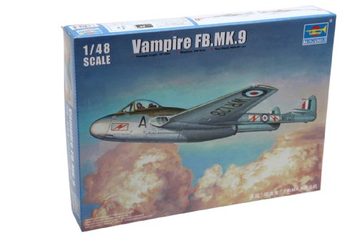 Trumpeter Mk.9 Vampire FB. British Fighter Airplane Model Kit, Scale 1/48 from Trumpeter