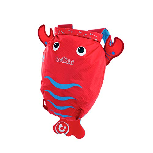 Trunki Kid's Water-Resistant Swim & Gym Bag – PaddlePak Pinch Lobster (Red) from Trunki