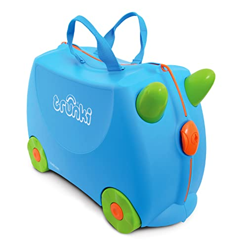 Trunki Children's Ride-On Suitcase & Kid's Hand Luggage: Terrance (Blue) from Trunki