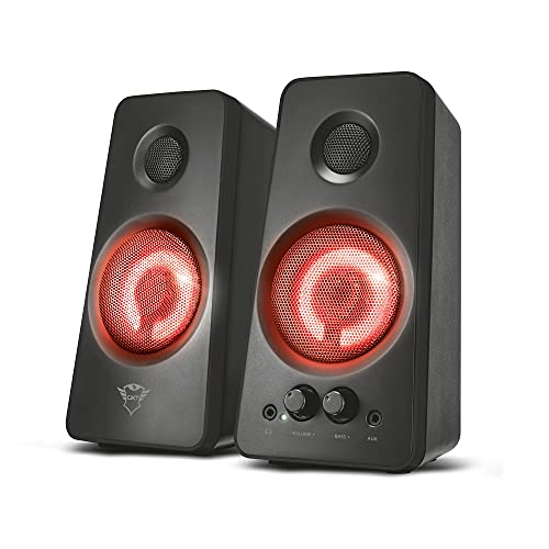Trust Gaming GXT 608 Tytan 2.0 PC Gaming Speakers Illuminated for Computer and Laptop, USB Powered, 36 W - Black from Trust Gaming