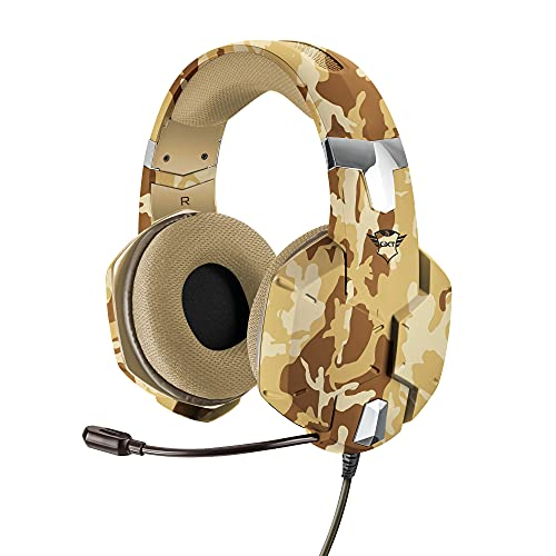 Trust Gaming 22125 GXT 322D Carus Gaming Headset for PC , Laptop, PS4 and Xbox One, Desert Camo from Trust Gaming