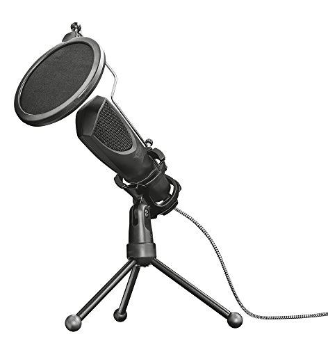 Trust Gaming GXT 232 Mantis Streaming Gaming Microphone for PC, PS4 and PS5, USB Connected, Including Shock Mount, Pop Filter and Tripod Stand - Black from Trust Gaming