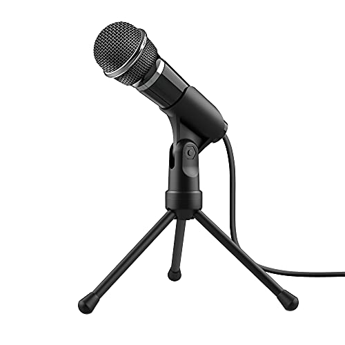 Trust Starzz Microphone and Stand for PC and Laptop with 3.5 mm Plug from Trust