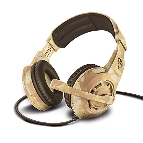 Trust GXT 310D Radius Gaming Headset for PC, Laptop, PS4 and Xbox One, Deser Camo from Trust
