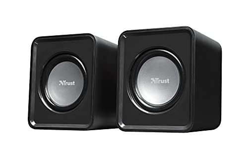 Trust 19830 Leto 2.0 Compact PC Speakers for Computer and Laptop, USB Powered, 6 W, Black from Trust