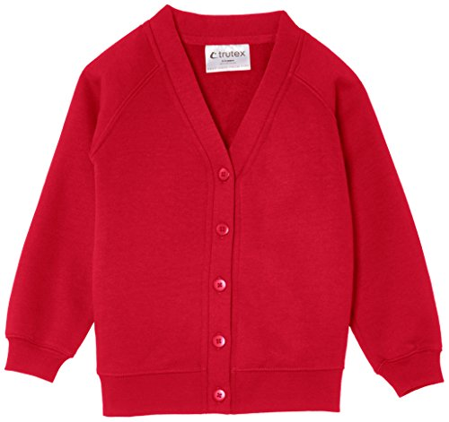 "Trutex Limited Unisex Cardigan, Red (Scarlet), 2-3 Years (Manufacturer Size: 19-20"" Chest) from Trutex"
