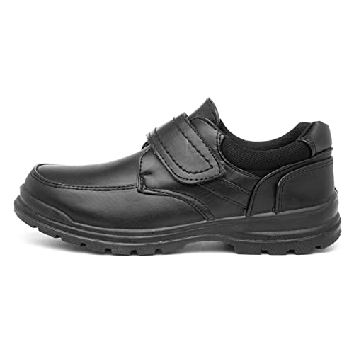 Trux Boys Black Easy Fasten Shoe - Size 9 Child UK - Black from Trux