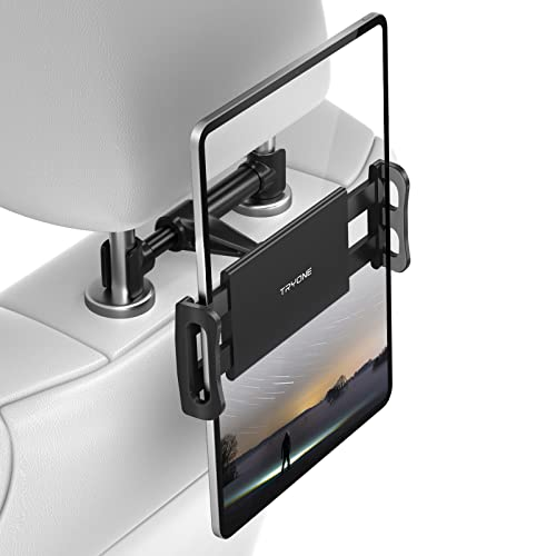 "Tryone Car Headrest Mount, Car Seat Tablet Holder for iPad/Samsung Galaxy Tabs/Amazon Kindle Fire HD/Nintendo Switch/Other Devices 4""-10.1"" (Black) from Tryone"