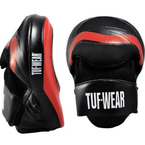 TUF WEAR Boxing Hook and Jab Aircurve Focus Pads (Black/Red) from TUF WEAR
