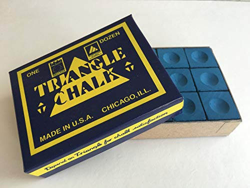 12 Pieces BLUE Triangle Snooker Pool Chalk - Worlds Most Popular Chalk! from Tweeten