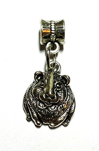 Bracelet Charm - European Bracelet Bail and Charm Wiccan, Surfer, Indie, (Hamster Charm) from Twilight Gifts