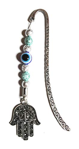 Evil Eye keyring~Evil Eye Bookmark~Hamsa hand~Fatima~Egyptian Turkish gift (Evil eye bookmark) from Twilight Gifts