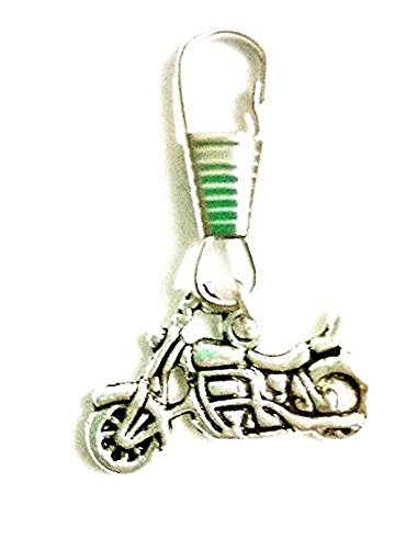 Mens themed zip pullers~Dad themed clip charms~Dad zipper gift~Fathers day (Motorbike zipper) from Twilight Gifts