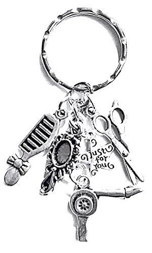 Vet keyring~Dog groomer Keyring~Hairdressers Keyring~tibetan silver charms (Hairdressers keyring) from Twilight Gifts