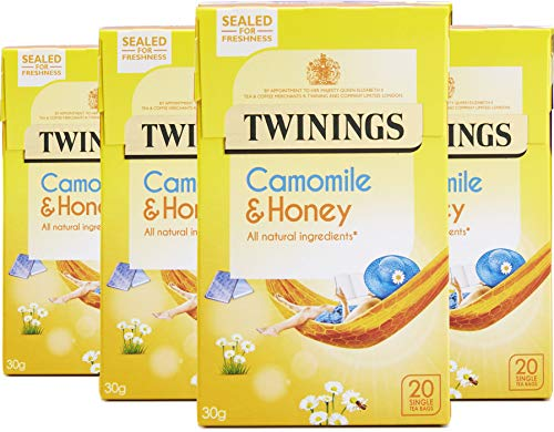 Twinings Camomile, Honey and Vanilla 20 Teabags (Pack of 4, Total 80 Teabags) from Twinings