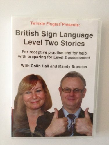 British Sign Language Level 2 stories homework DVD NEW FEB 2012! from Twinklefingers