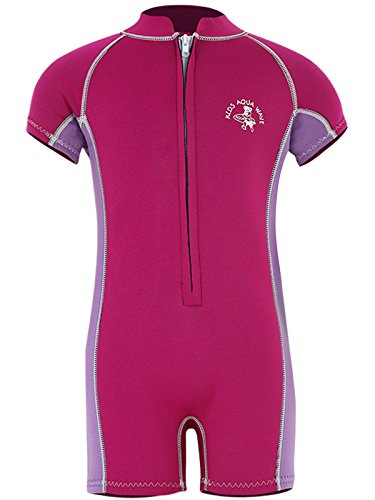 Aquawave Baby Toddler First Wetsuit (S, Raspberry-Lilac) from Two Bare Feet