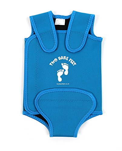 Two Bare Feet Baby Wrap Swimsuit / Baby Warmer Wetsuit - Girls & Boys - 0-24 Months (0-6 Months, Aqua) from Two Bare Feet