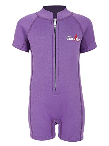 Two Bare Feet Classic Baby Wetsuit - Neoprene Swimsuit Ages 0 - 48 months (S (12-18 months), Lilac) from Two Bare Feet