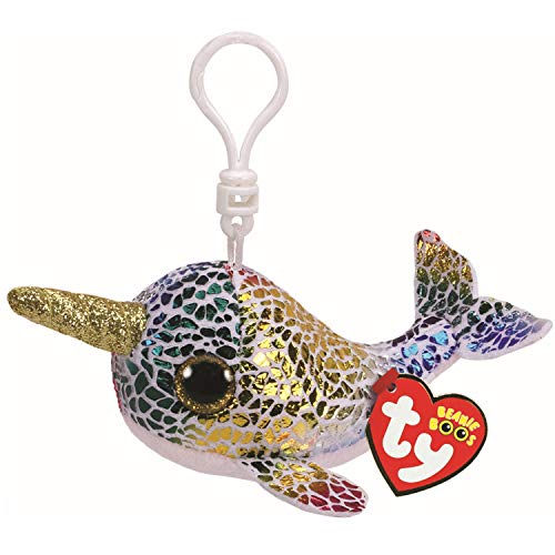 Ty 35219 NOVA NARWHAL Boo Clip, Multicolored from Ty