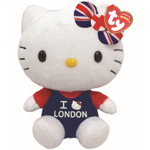 Ty 41032 Hello Kitty I Love London Beanie, Multicolored from Ty