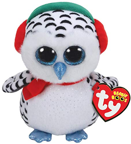 Ty 36221, Schneeeule 15cm NESTER OWL BOO XMAS 2018, Multicolored from Ty